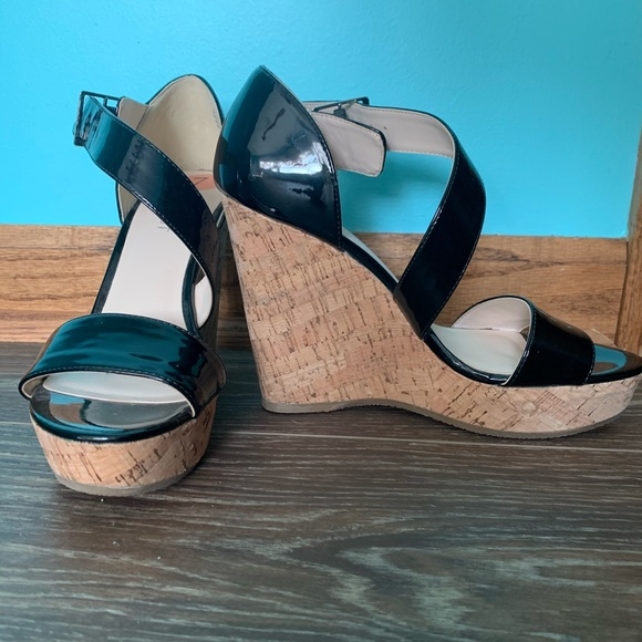 Nine West Shoes - Women's Nine West Black Cork Wedges